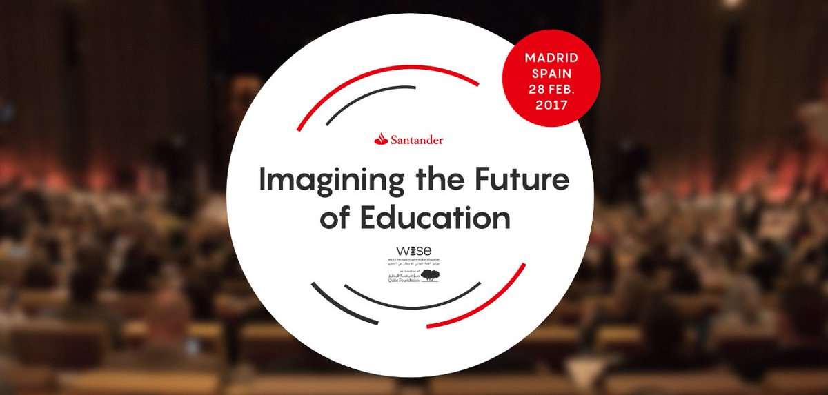 What's next for #education? Follow #WISEMadrid live: https://t.co/kCrm...