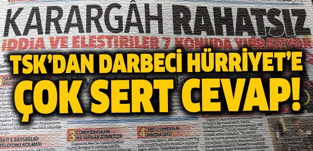 TSK'dan darbeci Hürriyet'e çok sert cevap https://t.co/FR5ODXQeGd http...