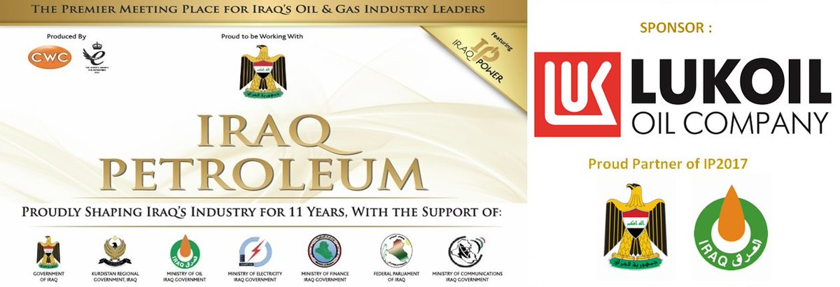 @LUKOIL_int Support Iraq Petroleum 2017 conference held on 22-23 May &#39;17 London UK.  http://www. cwciraqpetroleum.com  &nbsp;   #IraqPetroleum #Iraq #oil #MOO <br>http://pic.twitter.com/CjZr5522Xr