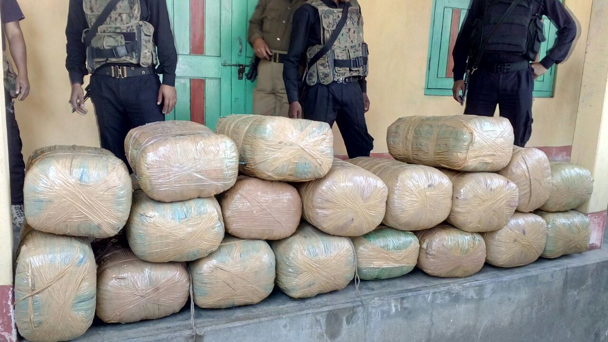 #Assam police recovers huge cache of banned contraband from Air Force...