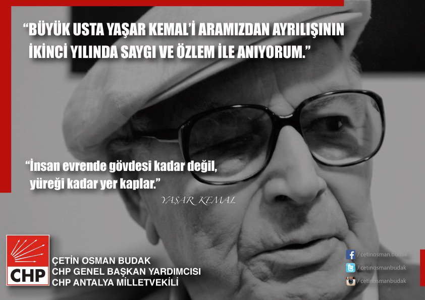 #YaşarKemal https://t.co/sBQ3pSOijY