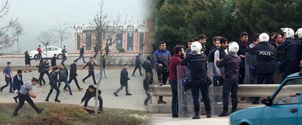 Kocaeli Üniversitesi'ndeki gerginlikte gözaltına alınan 43 öğrenci ser...
