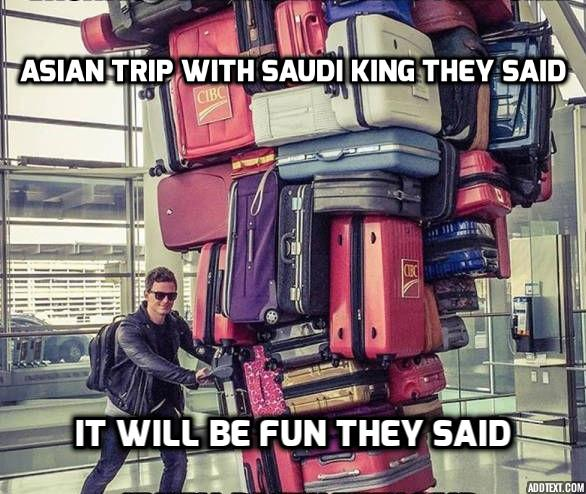 #VIRAL: Saudi king brings 459 tons of luggage, 2 limos & 1,500-strong entourage on Asia trip