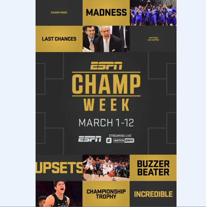 Championship Week: Here We Go: ESPN's Men's Championship Week has a