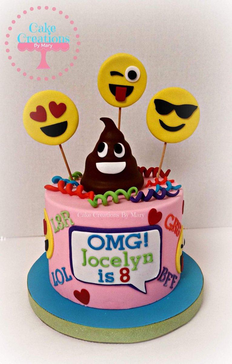 CakeCreationsByMary On Twitter Emoji Cake Birthdaycake