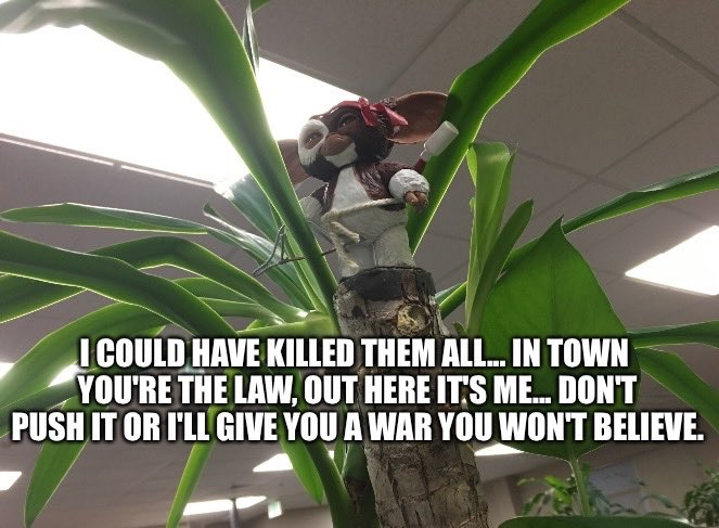 Gizmo's war will never be over. They dre...