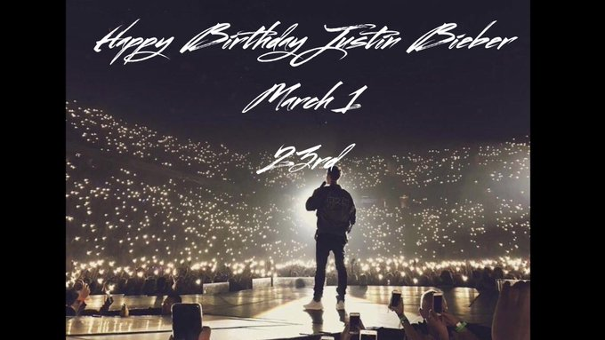 Happy Birthday Justin Bieber I think that you are the No,1 singer.