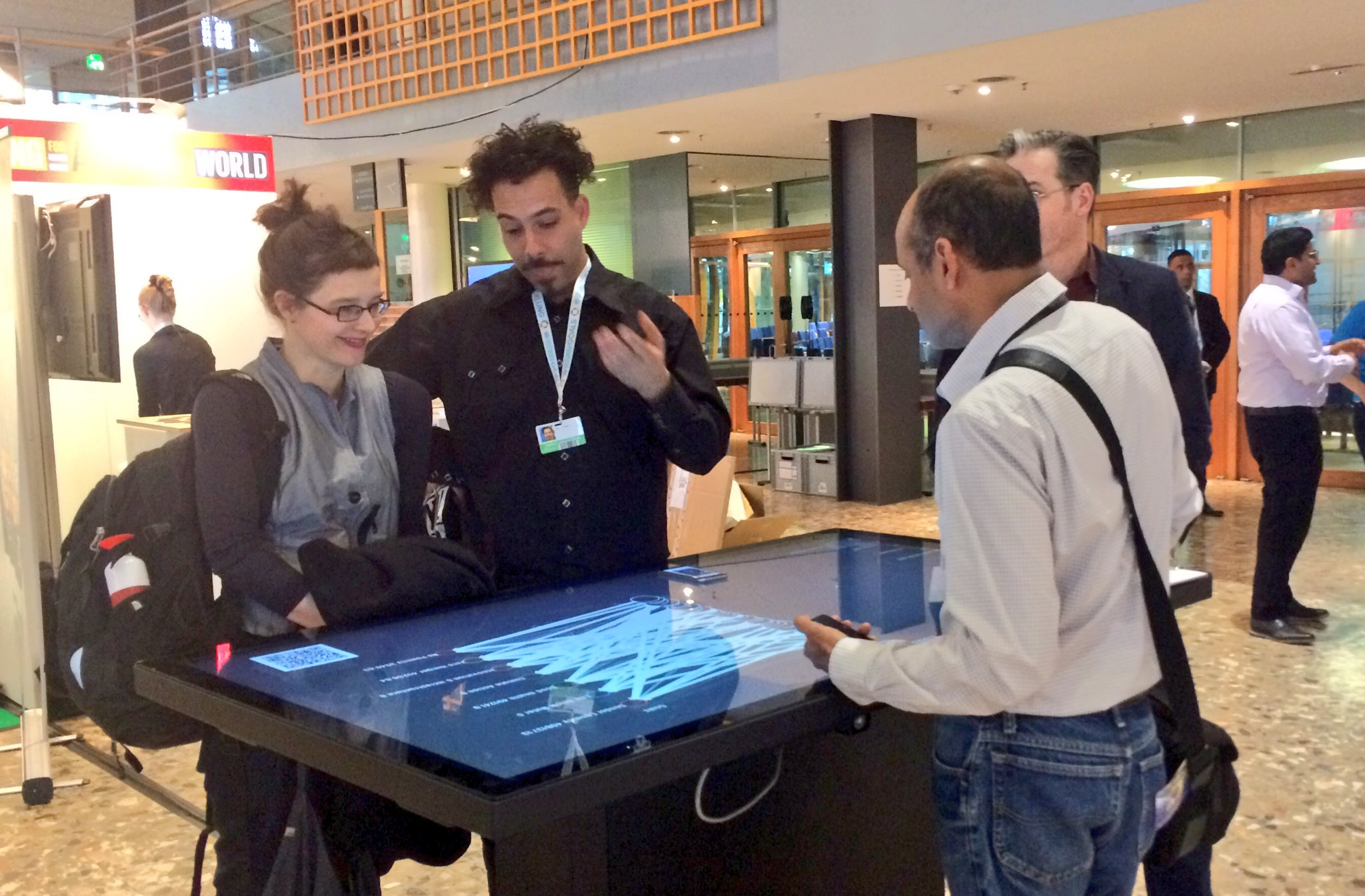 Putting the 'playable' factor into the world's first playable conference... organisers experience the #2030HiveMind policy game at #GFI4SD. https://t.co/EjnpSJPmJA