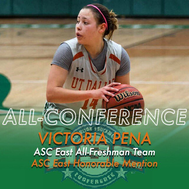 Congrats to Freshman Guard @pena_colada14 on being selected to @ASC_sports East All-Freshman Team & Honorable Mention #ItsTime 🏀💫 https://t.co/qb2lC2XQID