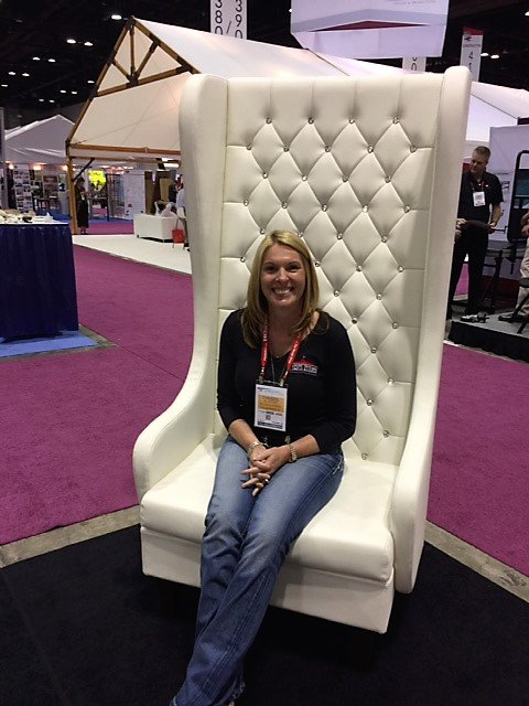 One more of the gems that Christie & Bobby have found @TheRentalShow! Thx ARA for putting on the best show ever! #TRS2017 #Kingchair #partypic.twitter.com/3l8UqxPSwh