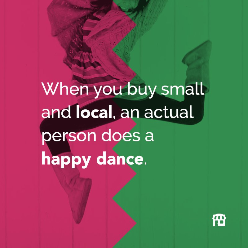 Make a business owner's day: Shop Locally!   #ShopLocally #ShopLocalHappyDance #SupportLocal #SmallBiz #ShopSmall https://t.co/oXknebAAvH