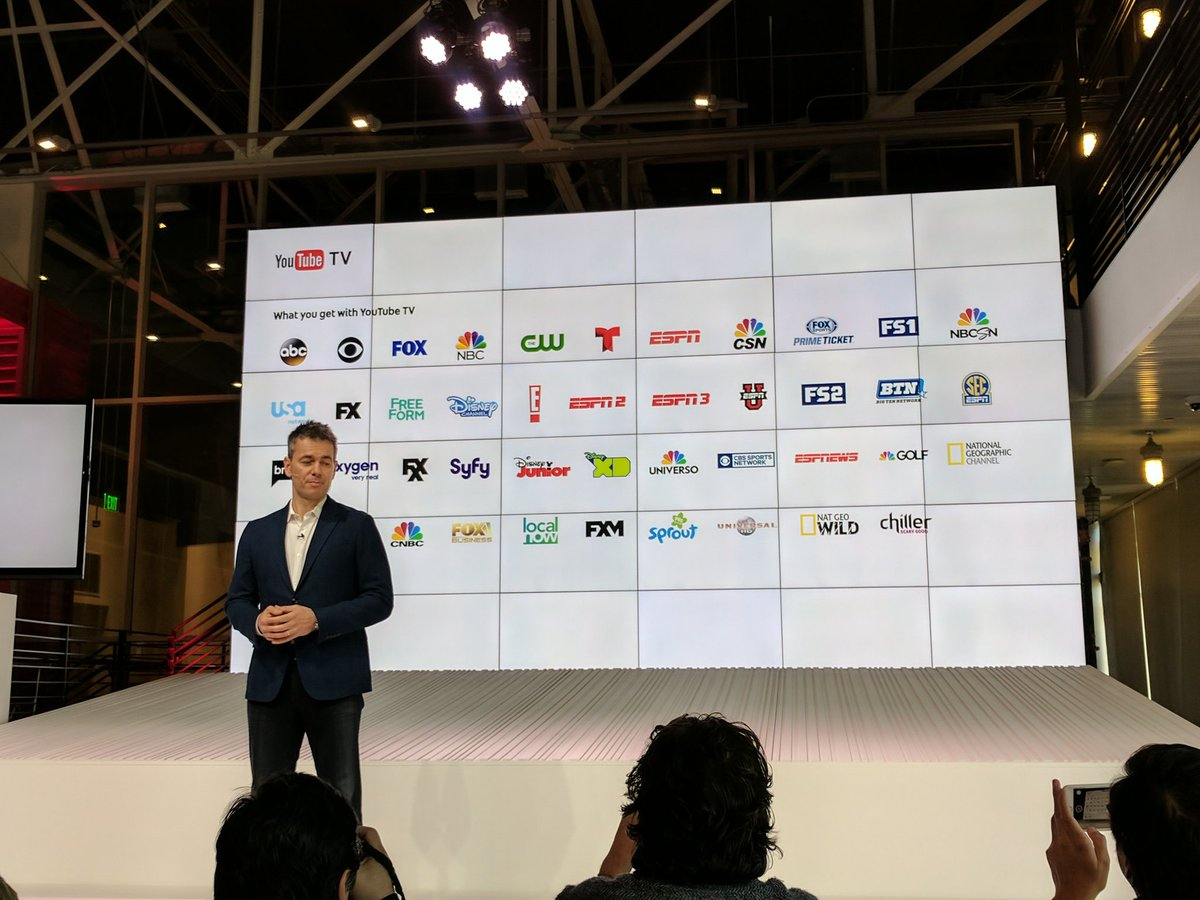 Here are all the YouTube TV channels available at launch https://t.co/C0eWHyfnzB