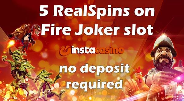 InstaCasino No Deposit RealSpins