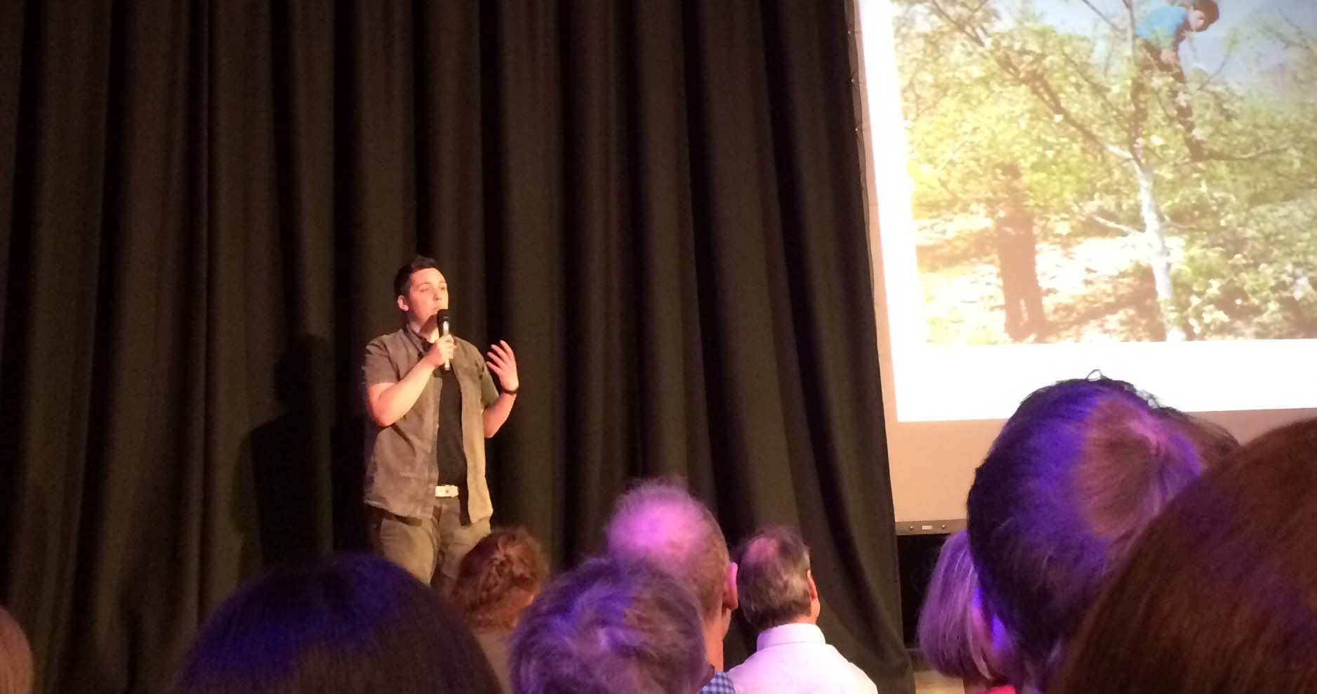 "Brilliant funny passionate moving start by Jo Kahlo ""go out plant wild flowers"" #PKN_DND https://t.co/V0bCmxSLN4"