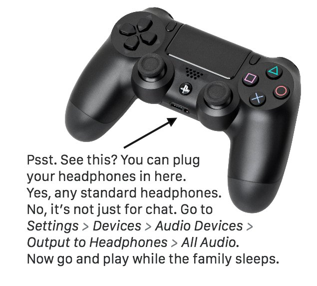 TIL that some people aren't aware of the PS4 controller's headphone jack, one of its best features. So, PSA: https://t.co/3K8c9Rm8aU