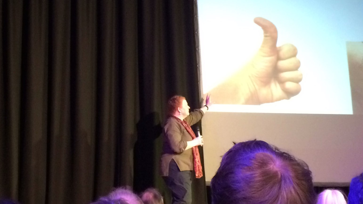 It's thumbs up for another cracking talk by Sue Black #PKN_DND https://t.co/Brxy3MAxMa