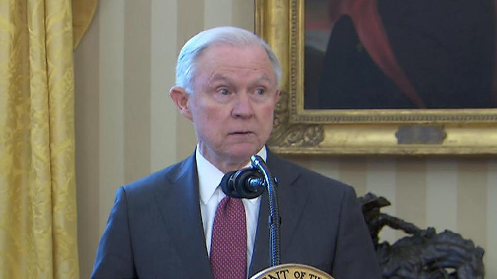 "Jeff Sessions says there's more violence around marijuana ""than one would think"""