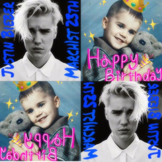 3.1 Justin Bieber Happy Birthday                         I love Justin