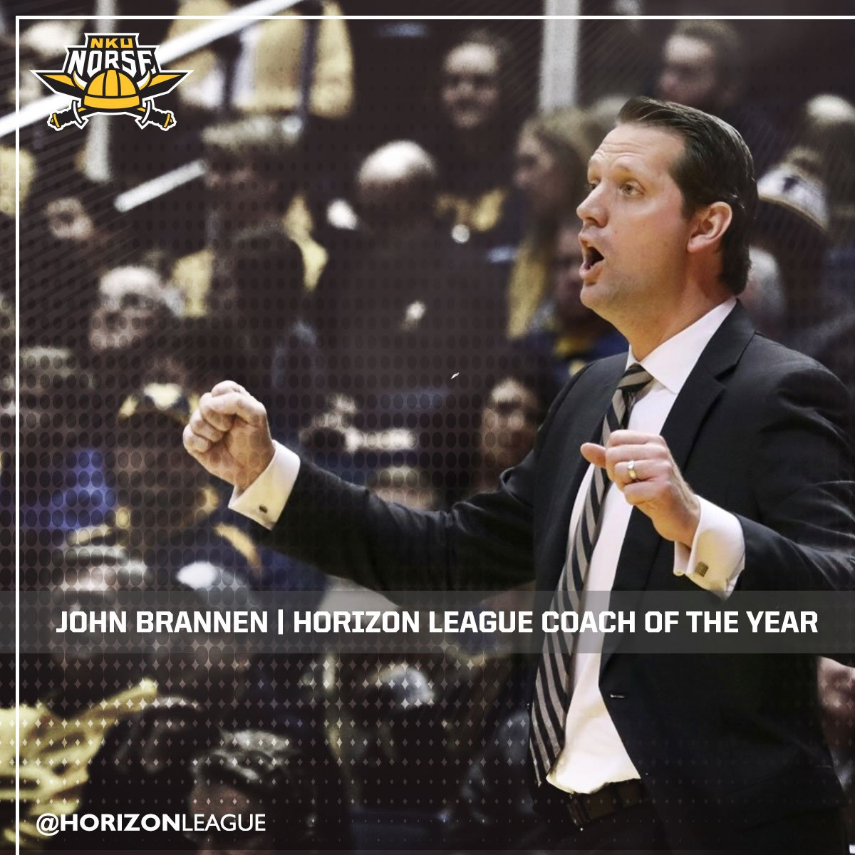 John Brannen of @NKUNorseMBB is the #HLMBB Coach of the Year