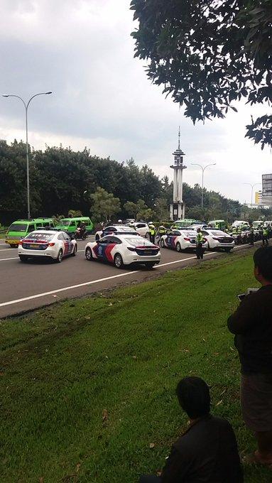 Situasi di pintu masuk Bogor setelah GT Bogor