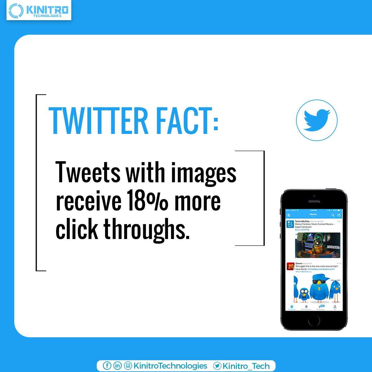 #Didyouknow tweets with images receive 18% more click throughs! #Twitter #TwitterMarketing #SocialMediaMarketing https://t.co/IBQr7l6vMK