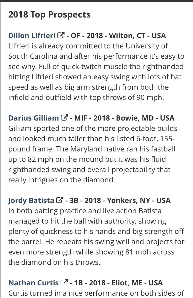 jack bulger jbulger twitter top prospect list from northeast indoor ny has been released perfectgame org events showcases topprospectlist aspx event 5297 pic com