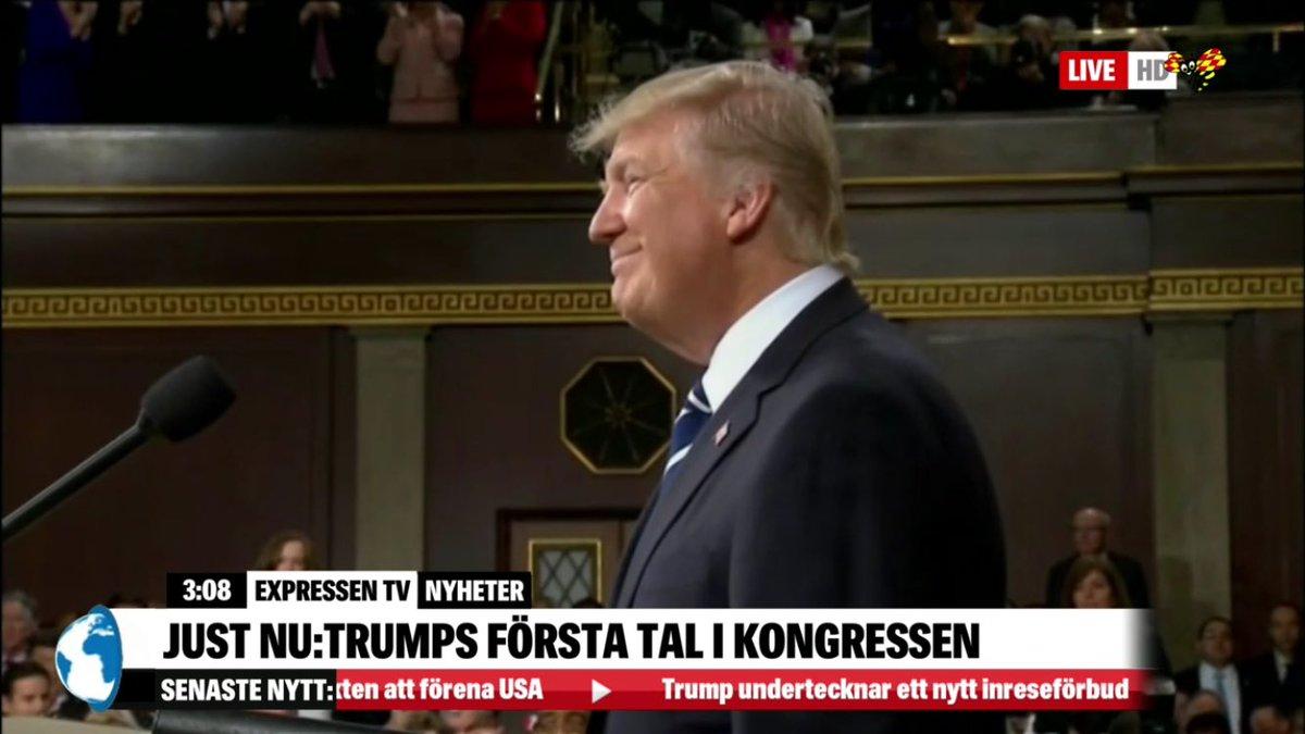 Live nu: Donald Trump talar i kongressen på @ExpressenTV - se på http://www.expressen.se/tv/sport/live/live-tv-senaste-nytt-i-expressen-tv/…