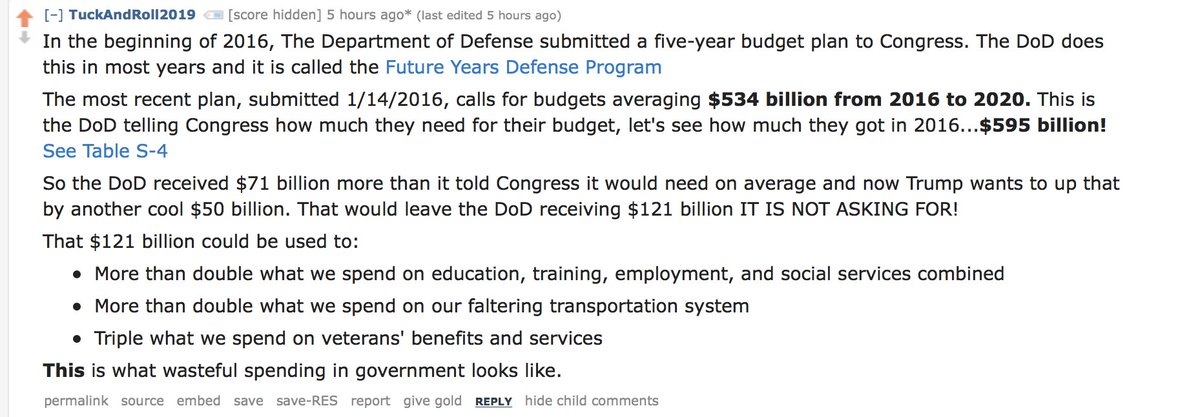 My favorite summary of how insane the proposed defense spending is. https://t.co/8ezKWfKr86
