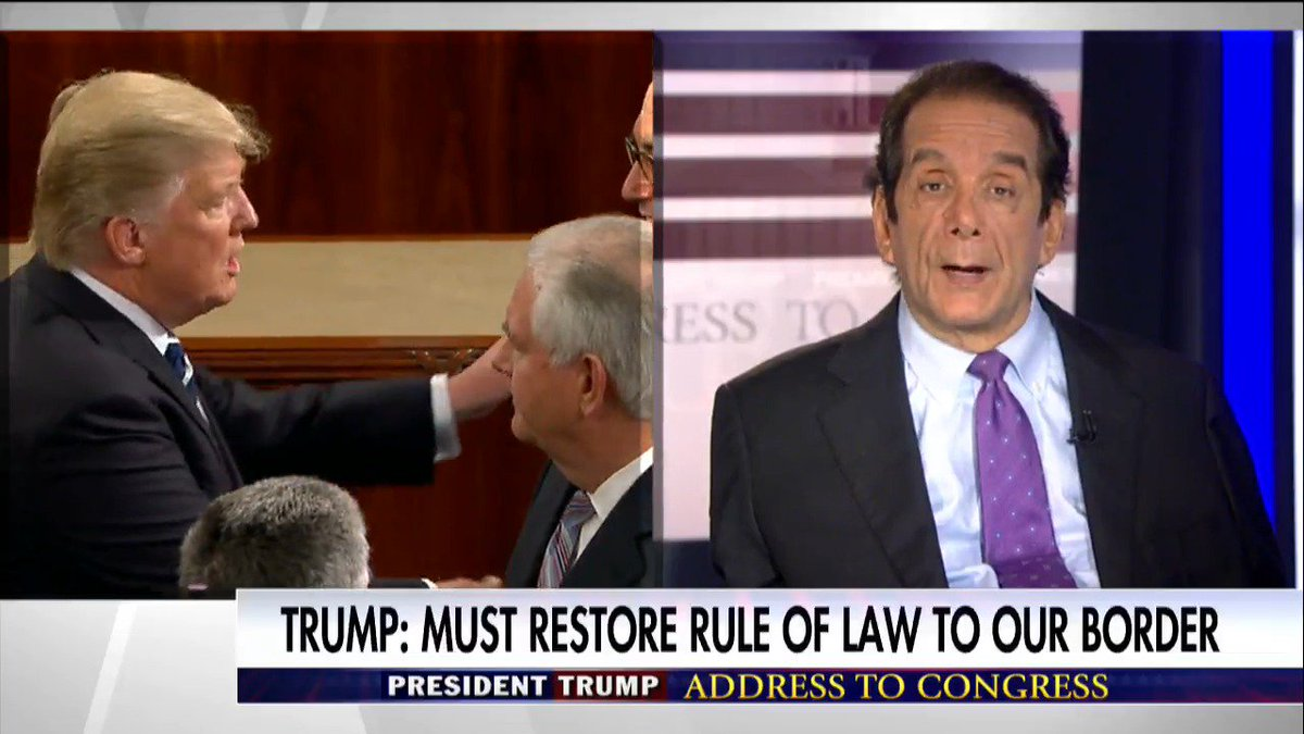 .@krauthammer: 'This is without a doubt the best speech [@POTUS] ever gave.' #TrumpAddress