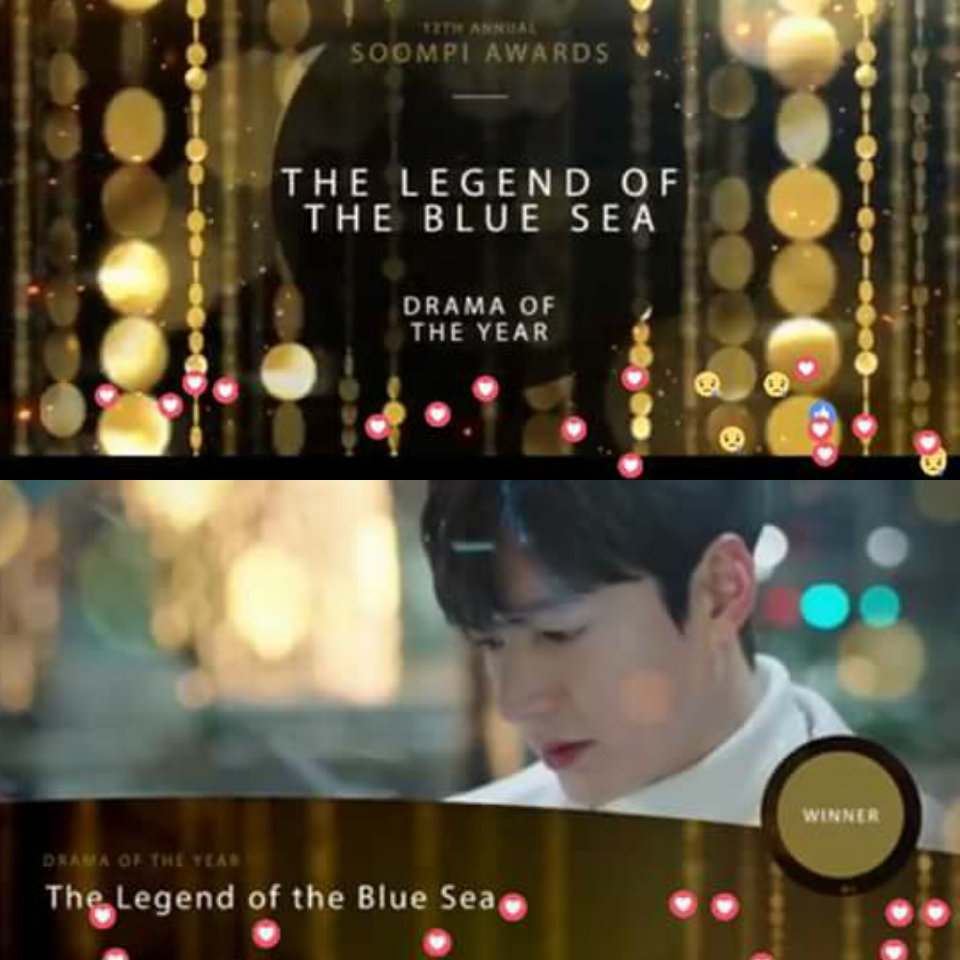 @xjingxbm official announcement of #soompiawards2016 drama of the year #legendofthebluesea <br>http://pic.twitter.com/cjdHfgTEgh