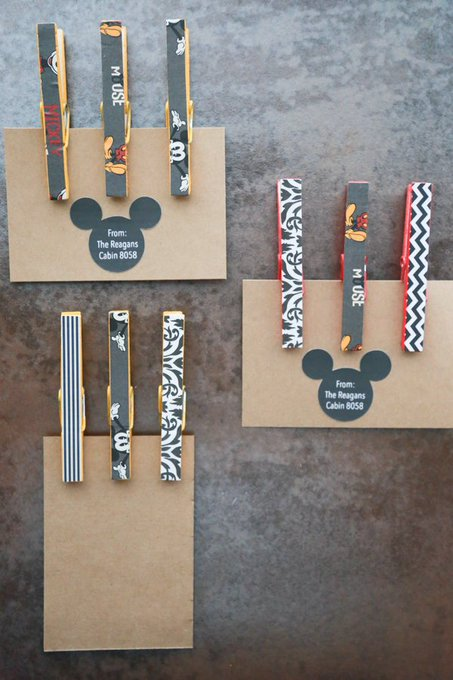 Mickey Mouse Clothespin Magnets