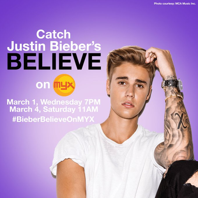 "Happy birthday, Justin Bieber\s Believe"" tonight at 7pm to celebrate his birthday!"