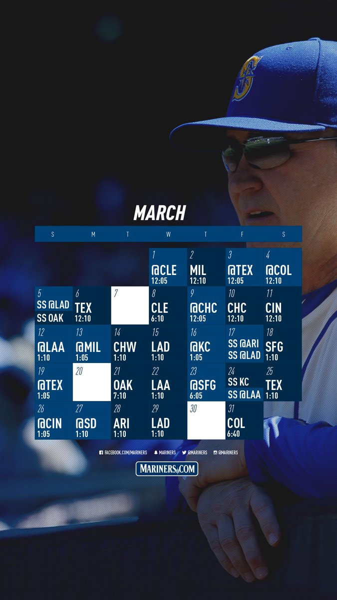 Seattle Mariners On Twitter New Month New Lock Screen Get