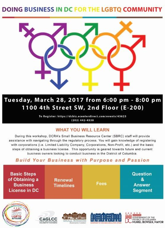 Join @DCRA_SBRC  on Tuesday, March 28th at DCRA for their #DoingBusinessinDCfortheLGBTQCommunityWorkhop https://t.co/Tuv5JnYIiA