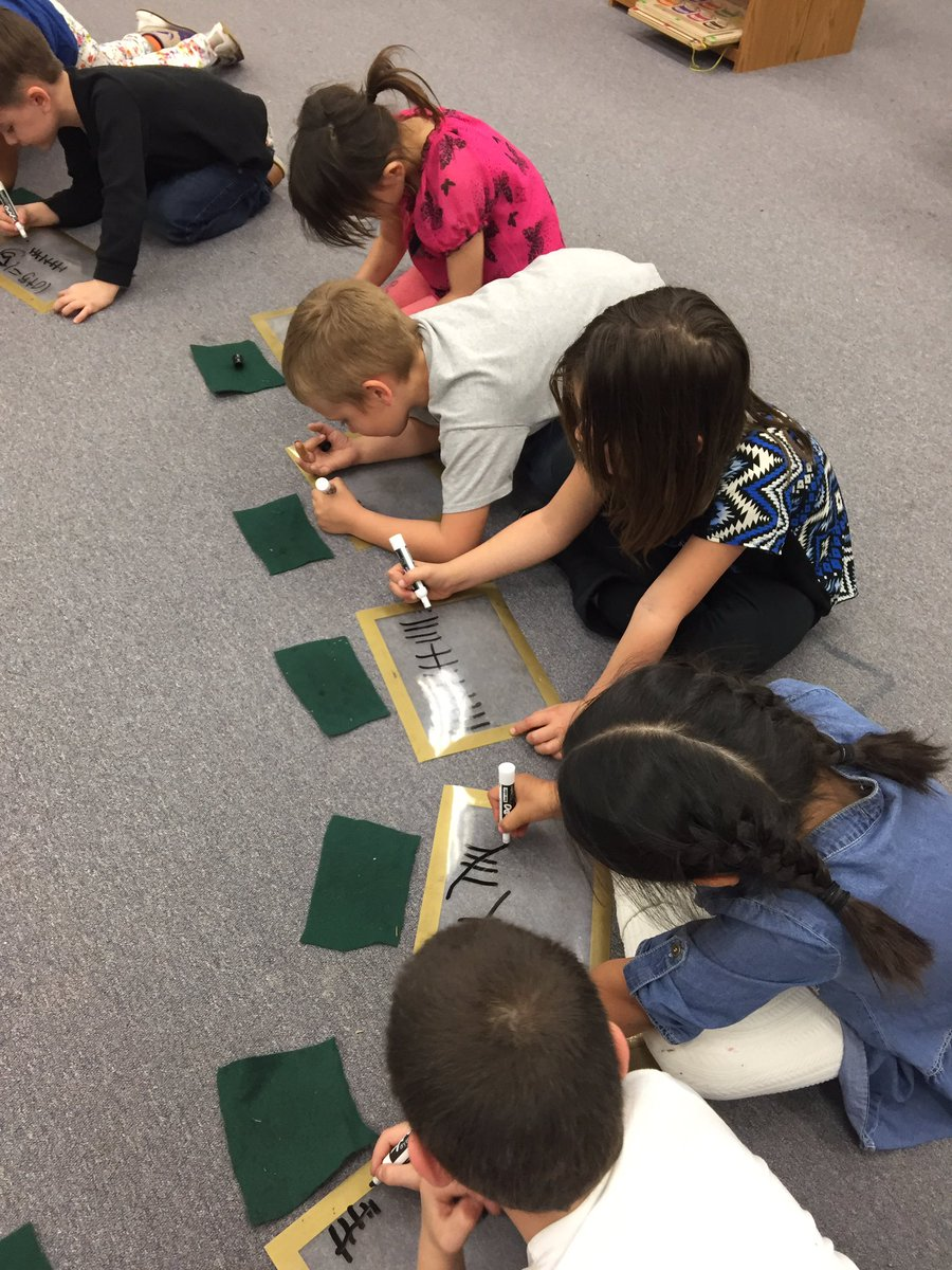 Never too early: TK/K building numeracy skills using tally marks, number-line, & related vocabulary. #excellenceforall