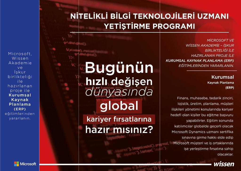 test Twitter Media - İş dünyasında global kariyer fırsatlarını yakalamak için, Kurumsal Kaynak Planlama (ERP) eğitimimize katılın: iskuregitim@wissenakademie.com https://t.co/GA6oiSj04s
