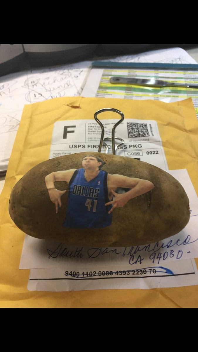 Whoever sent me this POTATO!!!! Much appreciated.... https://t.co/fVaqRvvgTn