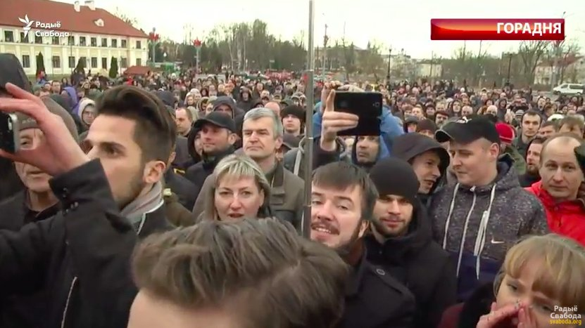 In Grodno people booed the official