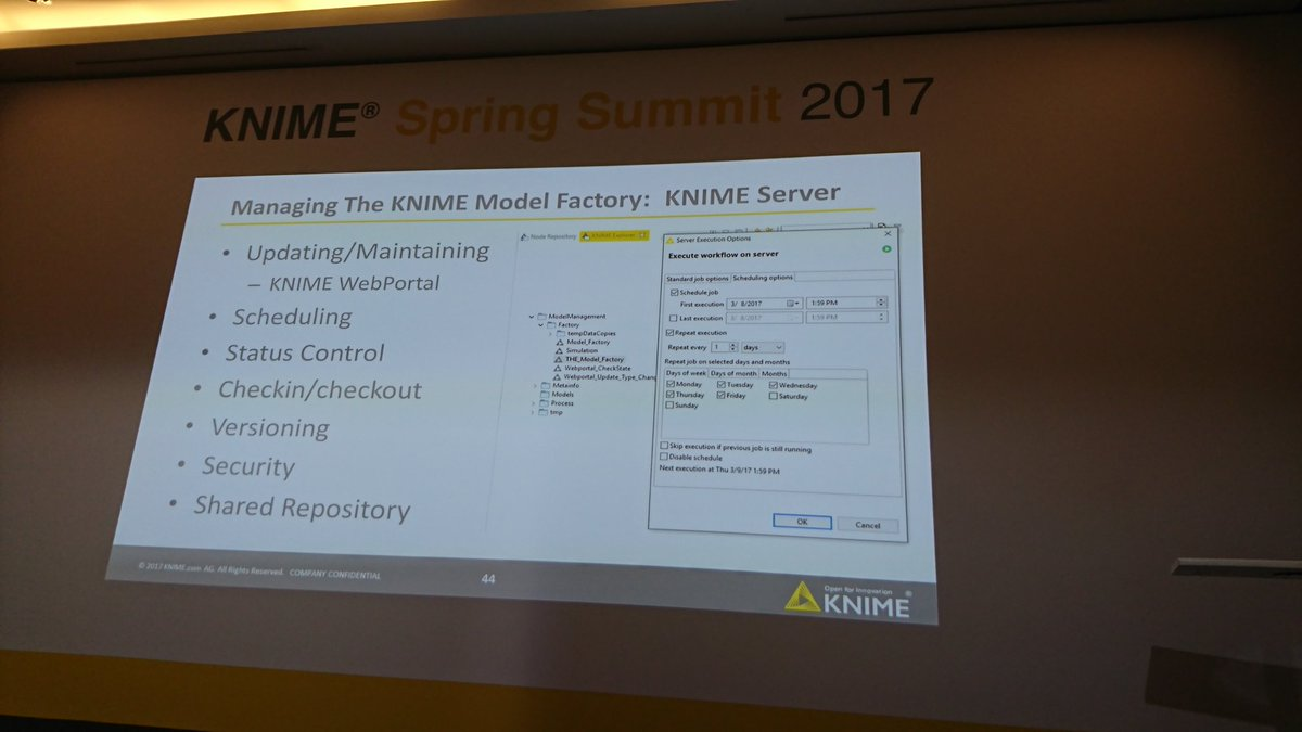 Say hello to the #KNIME Model Factory: a framework for creating and managing #datamining models #KNIMESummit2017