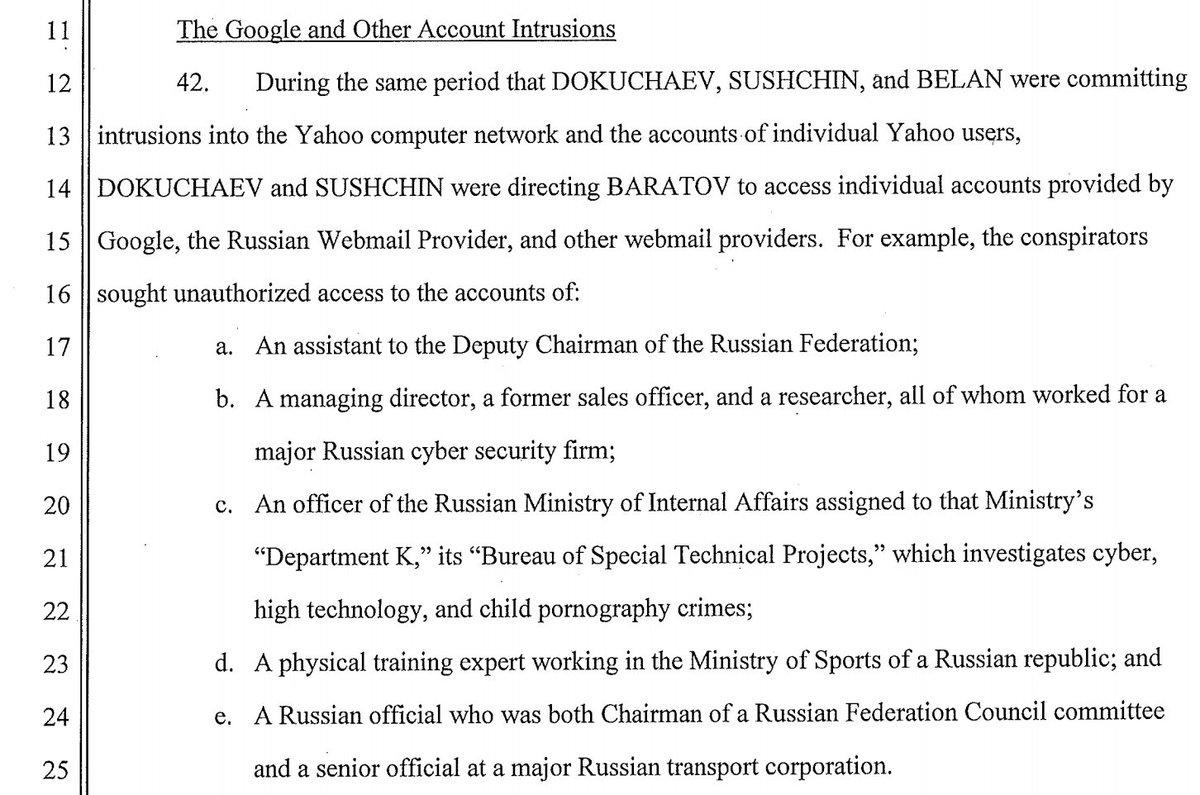 DoJ #YahooHack indictment of Russian Hackers working for FSB: They also attacked accounts of Russian officials #cyberwarefare #YahooMail <br>http://pic.twitter.com/kjtbyEBKXD