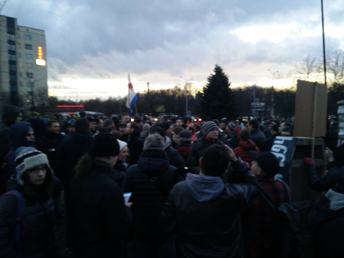Minsk march is over, only few people left