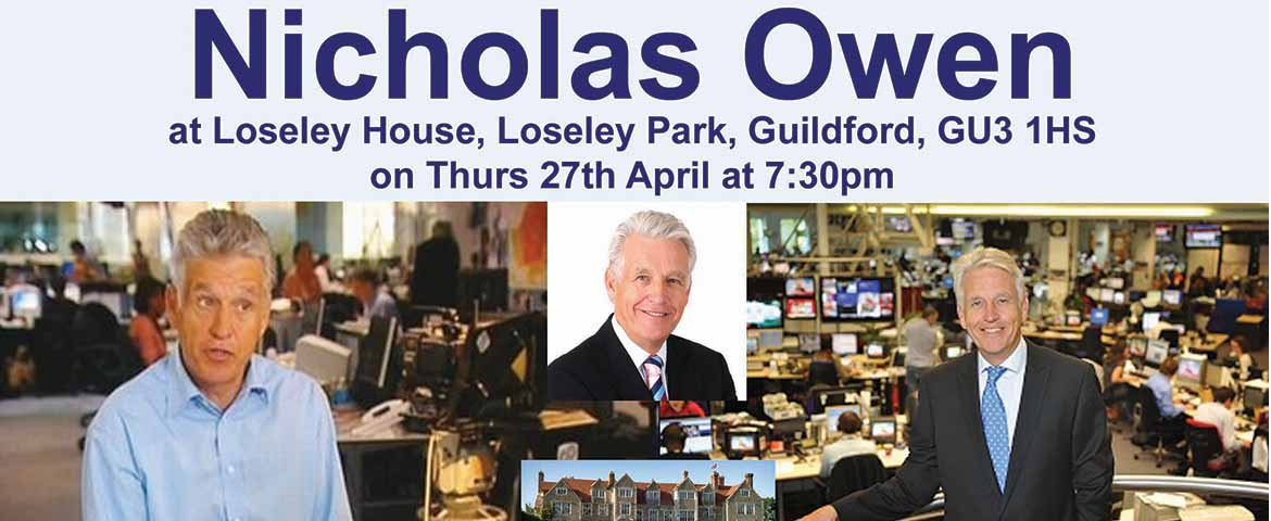 RT @GuildfordTIC Don't miss #NicholasOwen - an evening with - in aid of @helpsamson @LoseleyPark 27 April: Book Now https://t.co/35QzpmFVQf