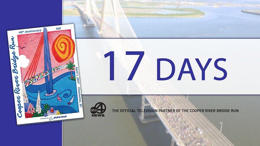 Only 17 days until the #CooperRiverBridgeRun #Go4it #BridgeRun40 #getoverit #chsnews