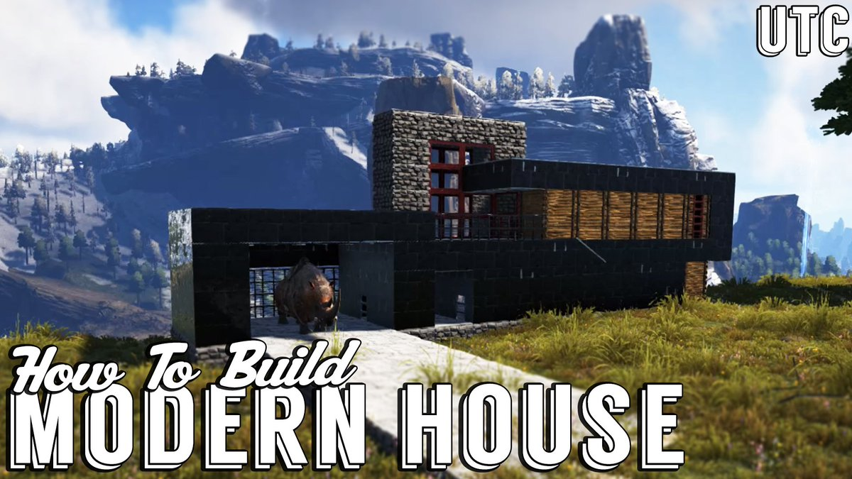Check out my new modern house tutorial along with the best of my ark build guides https goo gl 6n7rbj pic twitter com h9jqekufo7