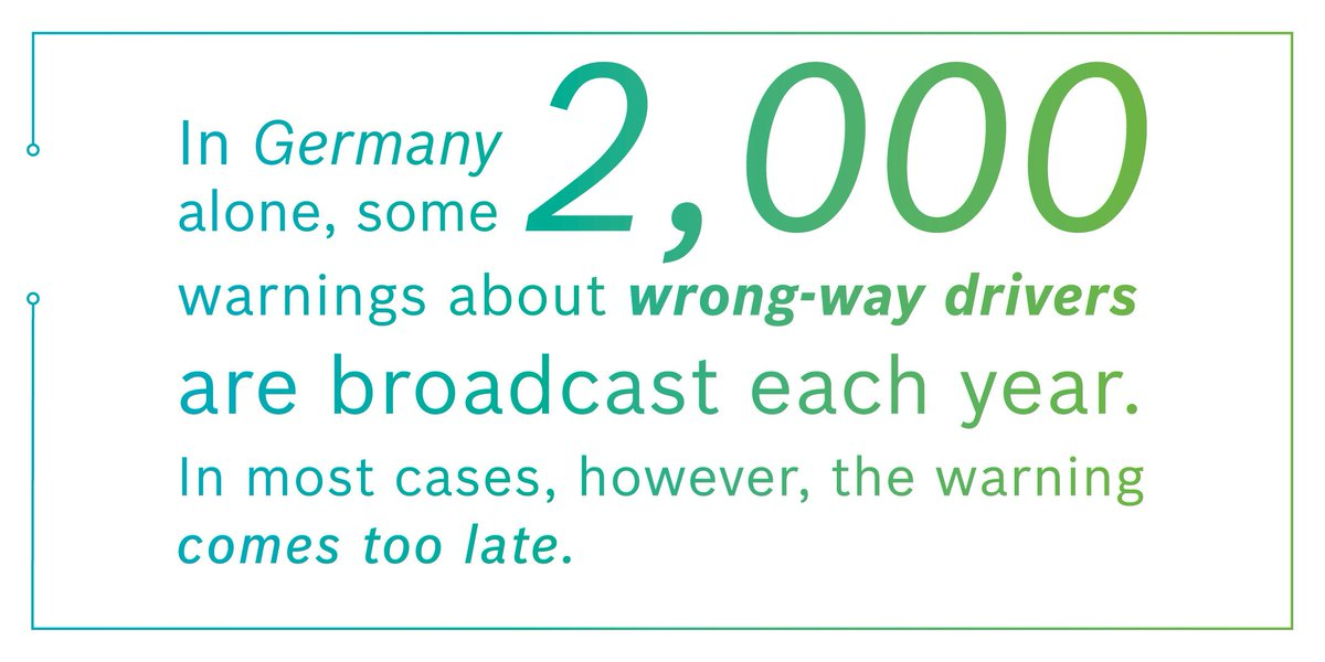 Wrong-way driver warning can save lives! #GoodToKnow #ConnectedMobility #BCW17 https://t.co/DUlEN4Bwfi