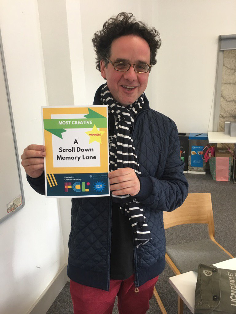 @UoEShortCourses print tutor #gregormcalpine delighted to win 'most creative' award @UoE_FCL with @ollphilosophyjg https://t.co/GPflKB3RXw