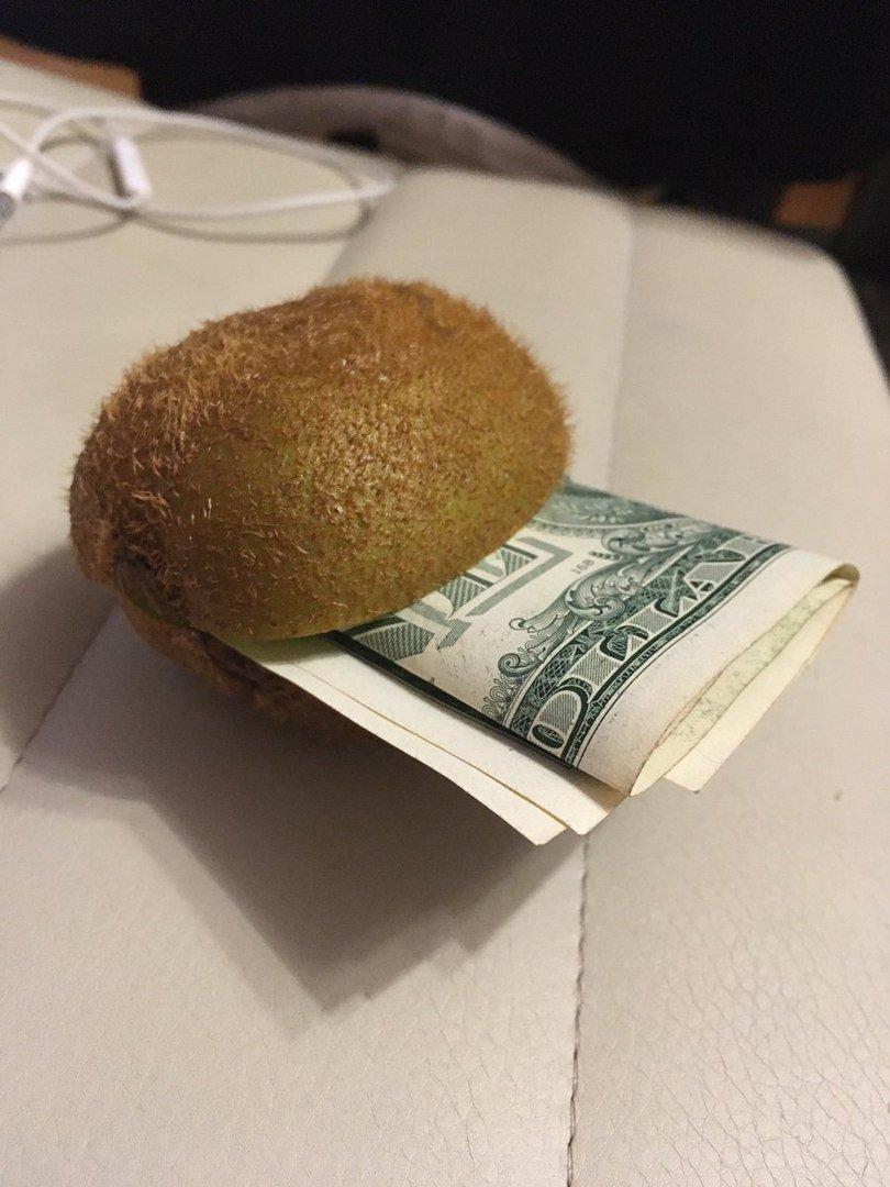 Киви с деньгами картинка