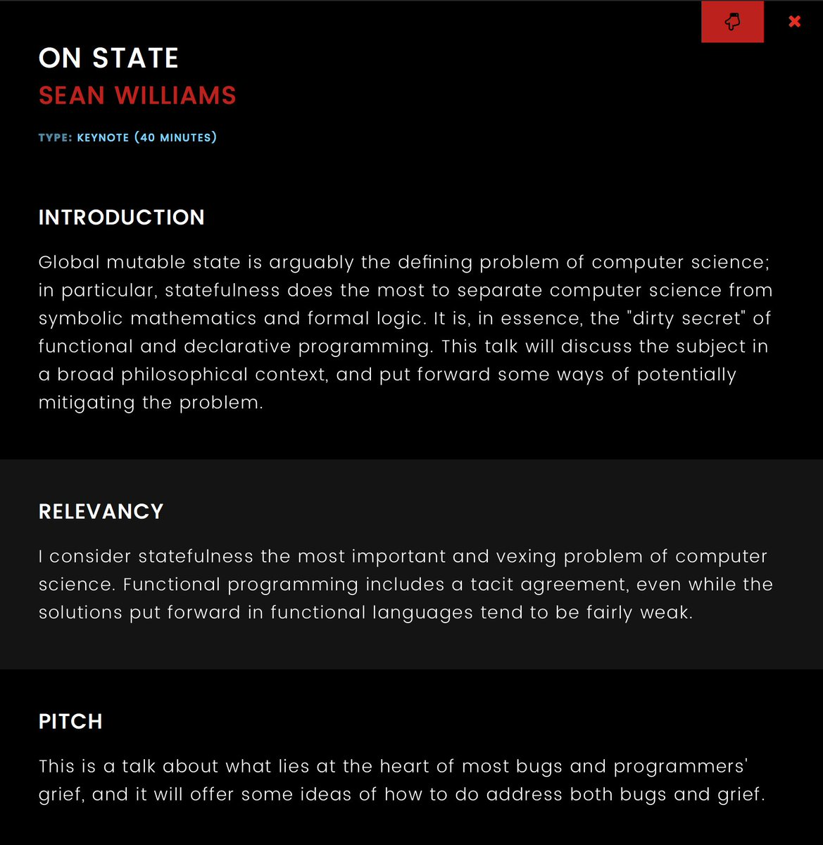 Lambdaconf On Twitter Lambdaconf 2017 Keynote On State By Sean