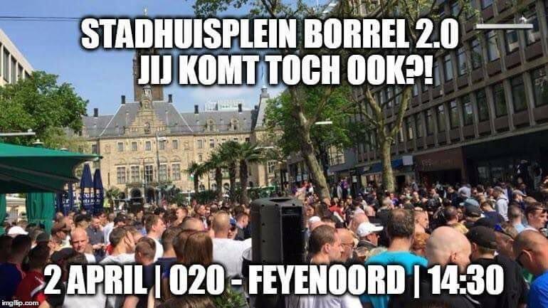 #StadhuisBorrel #ajaFey #ajax #Feyenoord #StadHuisplein #Rotterdam  2 april 14:30  🍺🍺🍺🍷🍷🍷🍸🍸🍸🍹🍹🍹👌👌👌 https://t.co/NbdvSOzW9f