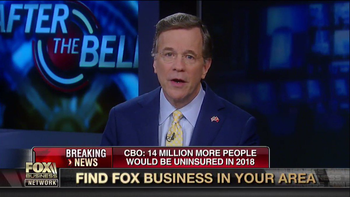 Here's how Fox Business covered the CBO report that 24 million people would lose their insurance